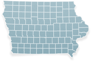 State map with ITAT counties highlighted.